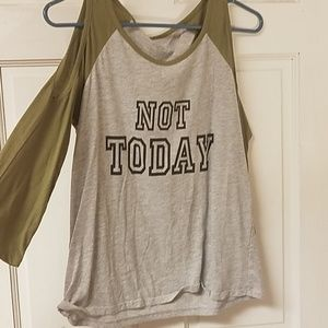 """"""" Not Today"""" cold shoulder top"""